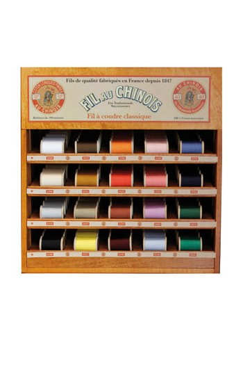 Fil Au Chinois thread display with 20 wooden spools - 200 m