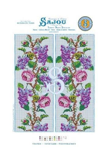 CROSS STITCH CHART ROSE FAIRY CHART PRETTY PINK FLOWER FAIRY CHART
