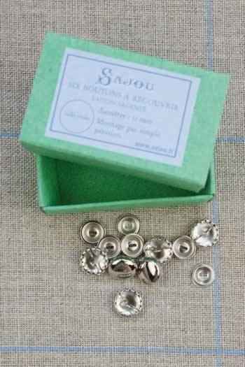 Metal buttons to cover  - Size 11mm
