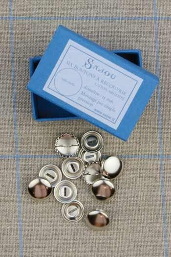 Metal buttons to cover - Size 15mm