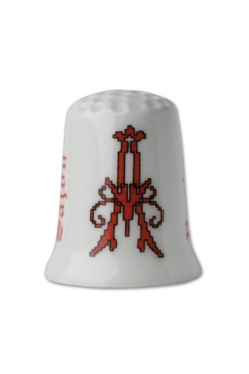 Porzellan-Fingerhut Buchstabe A