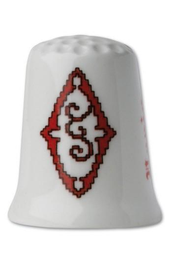 Porzellan-Fingerhut Buchstabe O