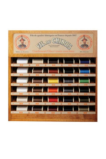 Fil Au Chinois thread display with 30 cordonnet thread spools - 30m