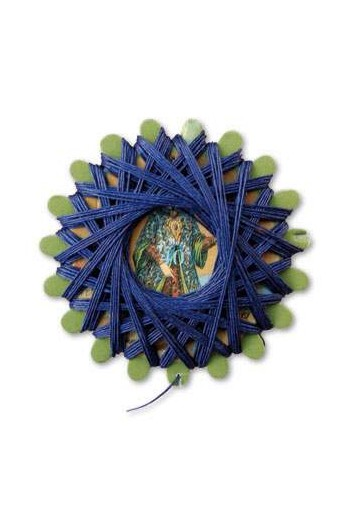 Star card n°678 - royal blue thread