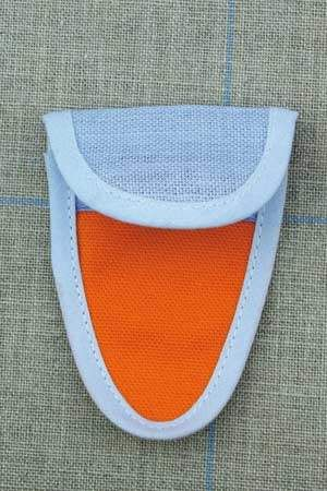 Scissor case for miniature scissors Orange and blue