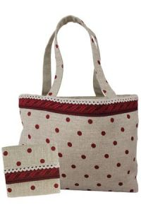 Shopping bag with matching pouch
