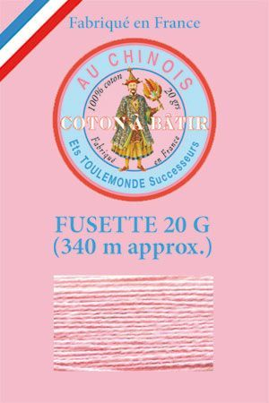 Cotton tacking thread - 340m reel - 592 - Pink