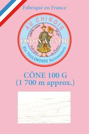 Tacking thread 1 700 m cone - White