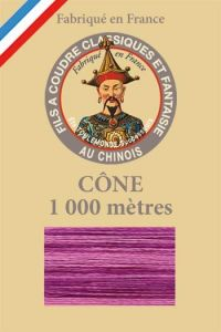 Variegated thread 1000m Cone n°135 - RasBerry