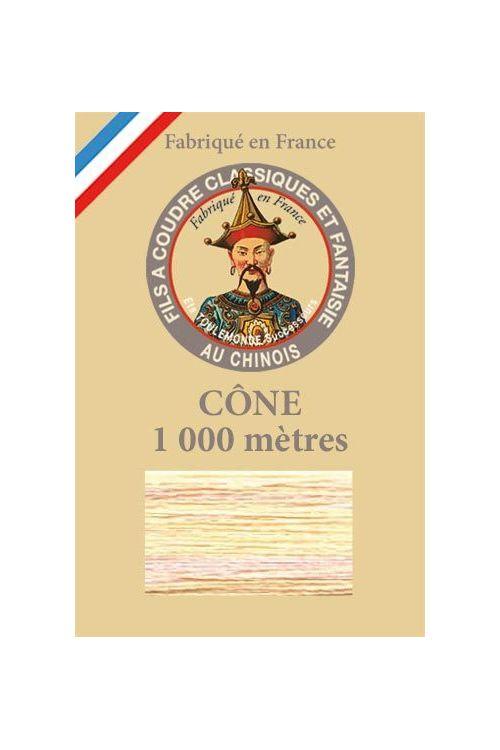 Cône 1 000 m Fil Multicolore n° 110 - Jaune/Rose