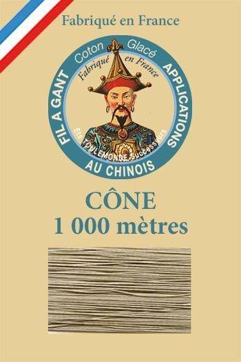 Cône 1 000 m Fil à Gant n° 302 - Lin