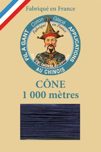 1000m Cone Gloving thread n°650 - Navy Blue