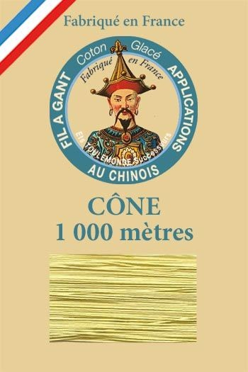 Cône 1 000 m Fil à Gant n° 330 - Beurre