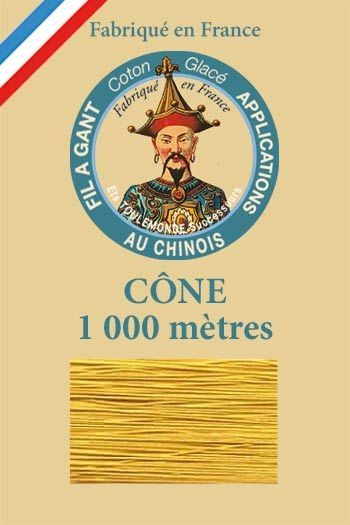 Cône 1 000 m Fil à Gant n° 361 - Paille