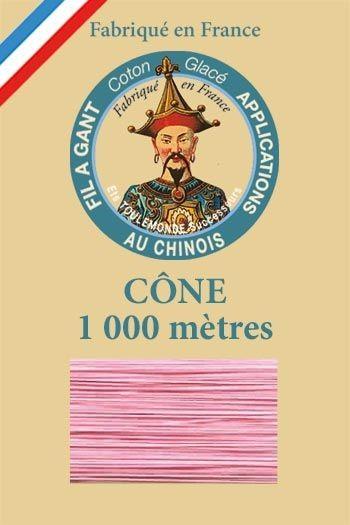 Cône 1 000 m Fil à Gant n° 594 - Rose