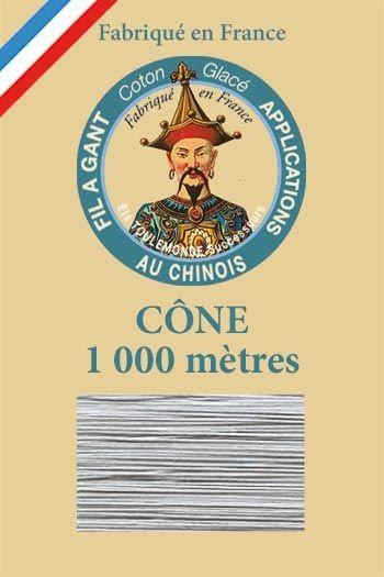 1000m Cone Gloving thread n°120 - Grey