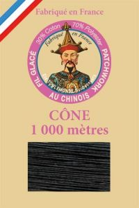 Patchwork thread 1000m cone n°180 - Black