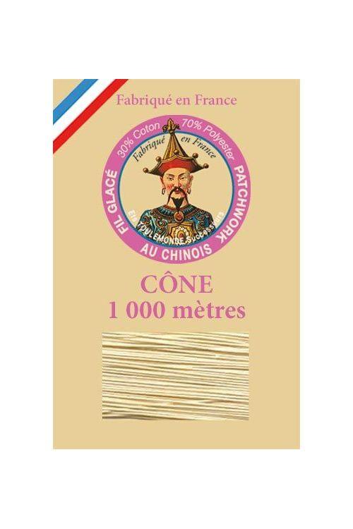 Cône 1000 m Fil Patchwork n° 310 - Beige