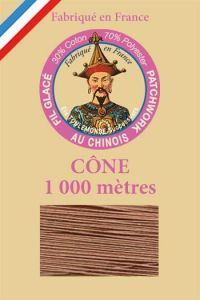 Patchwork thread 1000m cone n°290 - Chestnut