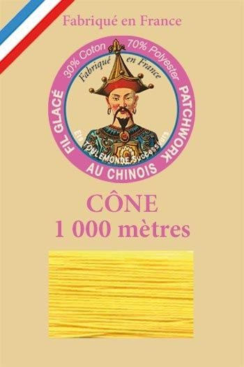 Patchwork thread 1000m cone n°360 - Corn