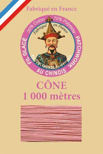 Patchwork thread 1000m cone n°592 - Pink