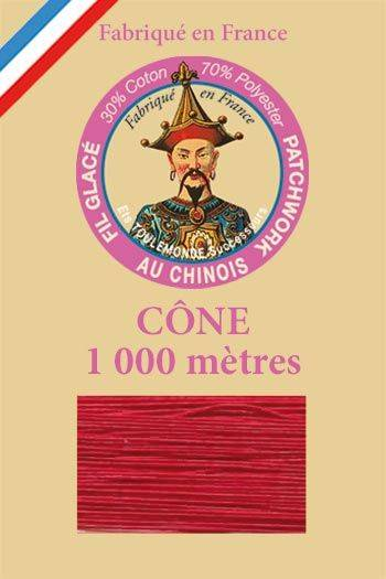 Patchwork thread 1000m cone n°510 - Red