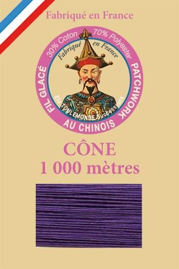 Patchwork thread 1000m cone n°550 - Purple