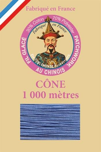Patchwork thread 1000m cone n°695 - Cornflower