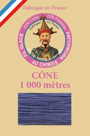 Patchwork thread 1000m cone n°731 - Cobalt