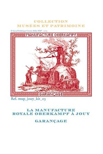 Cross stitch kit: garançage of toile de Jouy cloth