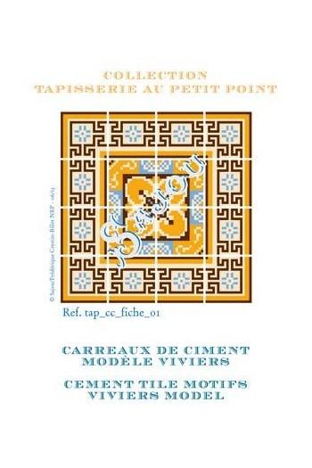 Grille de tapisserie au petit point : carreaux Viviers