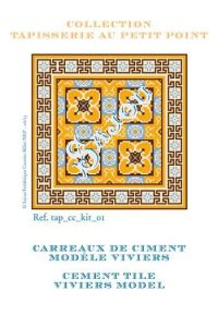 Basketweave tapestry kit: cement tile Viviers model