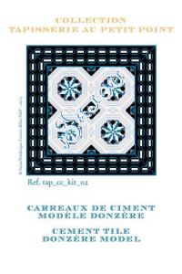 Basketweawe tapestry kit: cement tile Donzère model