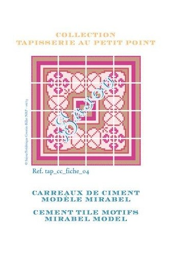 Basketweawe tapestry pattern chart: cement tile Mirabel model