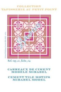 Basketweave tapestry pattern chart: cement tile Mirabel model