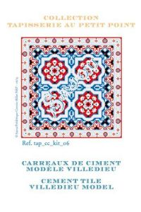 Basketweawe tapestry kit: cement tile Villedieu model