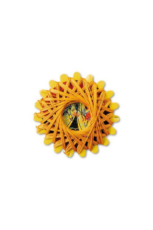 Linen thread star card 363 - Golden Yellow