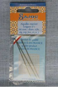 Three long darning needles  - size 1