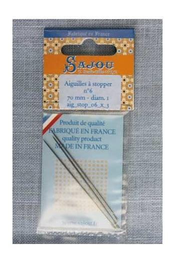 Invisible mending needles n°1 - length 66 mm diametre 1 mm