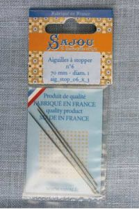 Three invisible mending needles - size 6