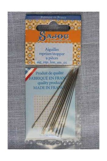 Darning/invisible mending needles assortment 9 pieces