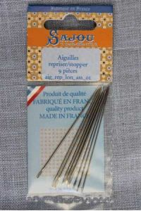 9 darning & invisible mending needles assortment