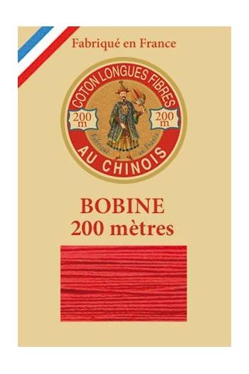 Fil de coton d'Égypte Coloris 6532 - Rouge bobine bois 200 m