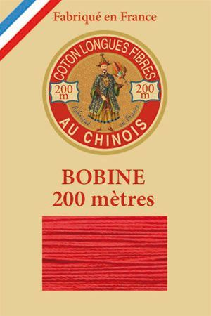 Ägyptische Baumwolle  Vintage Holzspule 200 m  6532 - Weihnachtsrot