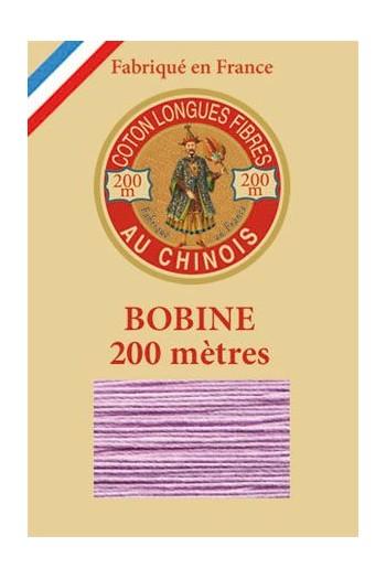 Fil de coton d'Égypte Coloris 6603 - Lilas bobine bois 200 m