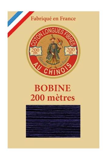Fil de coton d'Égypte Coloris 6764 - Marine bobine bois 200 m