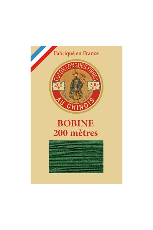 Egyptian cotton thread 200m wooden spool 6878 - Green