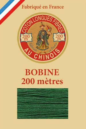 Egyptian cotton sewing thread 200m wooden spool 6878 Green