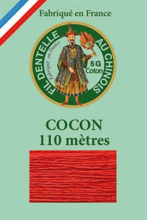 Coloured lace cotton thread Calais Cocoon n° 6539 - Strawberry