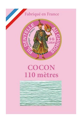 Colour lace cotton thread Calais Cocoon 6802 - Jade green